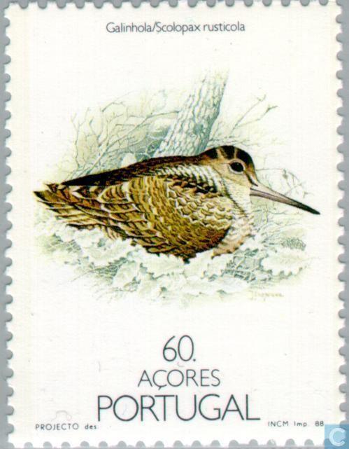Portugal, Açores: Scolopax rustícola - (Galinhola) 1988