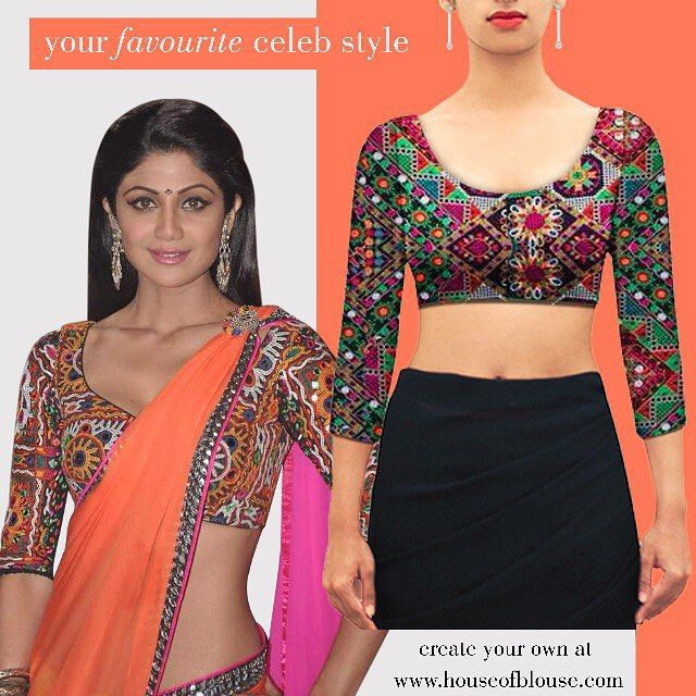 Crushing on your fav celebs style? Create an inspired version of the blouse you love with a similar style or fabric in 3 fun steps on our website!   Here's one such stunning Kutch work blouse! Shop it here or customize it further here : http://bit.ly/1BQJY1N *Shipping worldwide* Whatsapp helpline: +91 81050 68601. #saree #blouse #sareeblouse #indianwear #bollywood #celebstyle #fashion #style #kutchwork