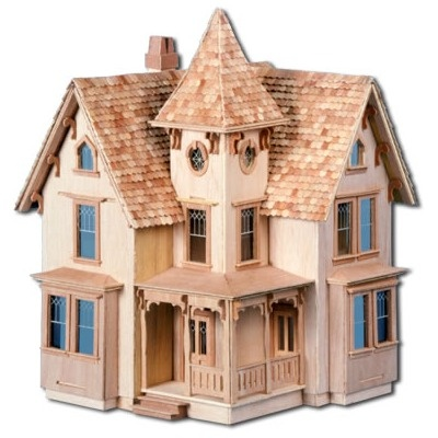 27 best once upon a dollhouse images on pinterest doll for Victorian kit homes