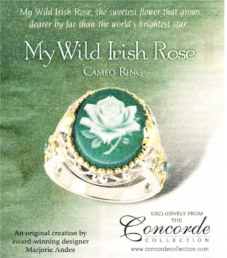 My Wild Irish Rose - Cameo Ring