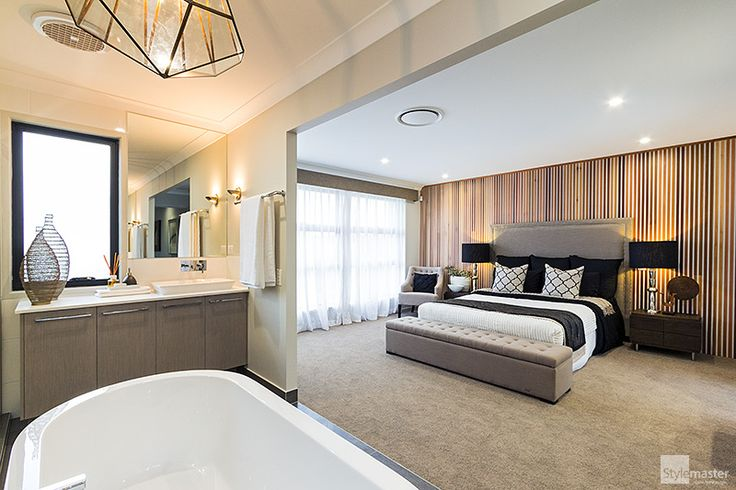 Master bedroom and award-winning ensuite in the Milan by Stylemaster Homes