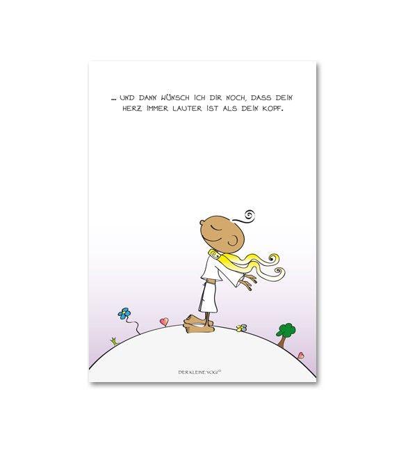 Postkarte - Herz lauter als Kopf
