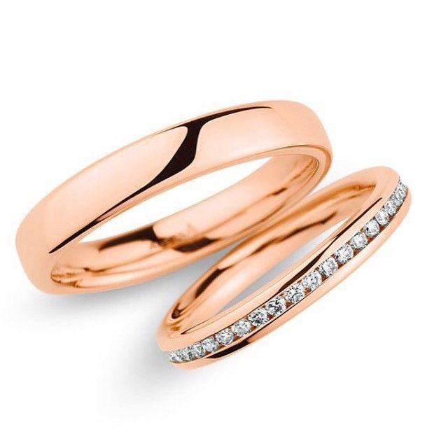 Par de Alianças Encanto ♥ Casamento e Noivado em Ouro 18K - Reisman - Reisman…