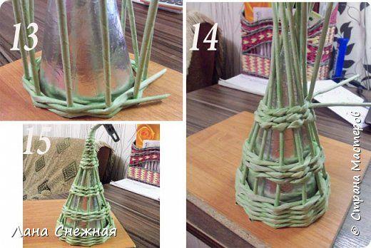 Мастер-класс Поделка изделие Новый год Плетение Сказочный лес Бумага газетная Трубочки бумажные фото 13