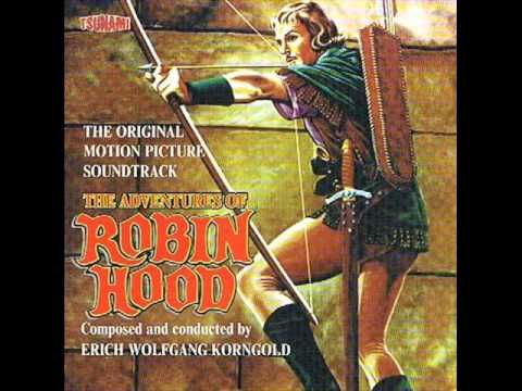 Erich Wolfgang Korngold. Amazing score (and my favorite Robin Hood film adaptation).