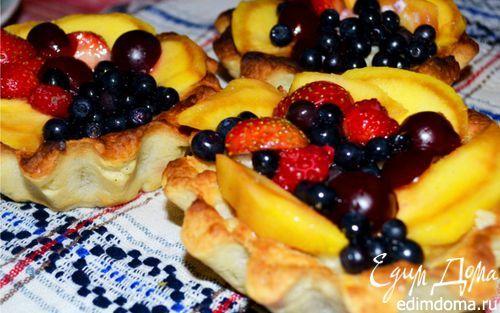 Корзиночки с ванильно-творожной начинкой и фруктами | Кулинарные рецепты от «Едим дома!»