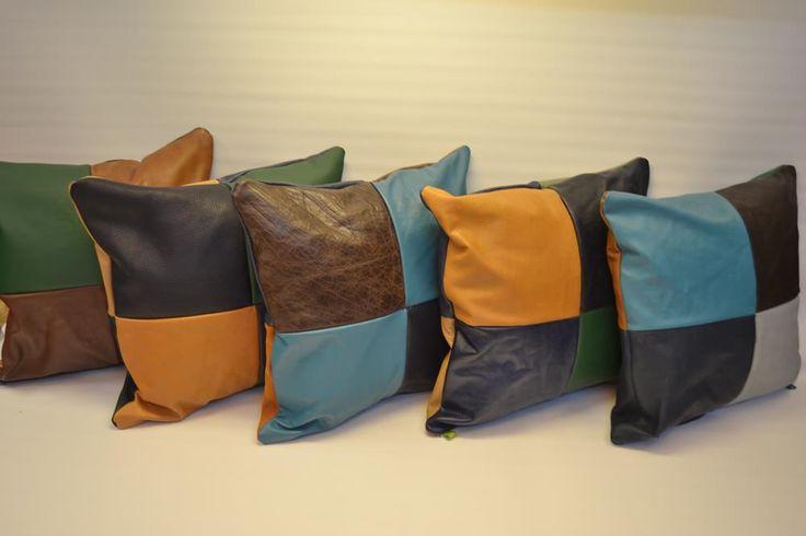 Leather-cushions handmade by die-lederkiste.de