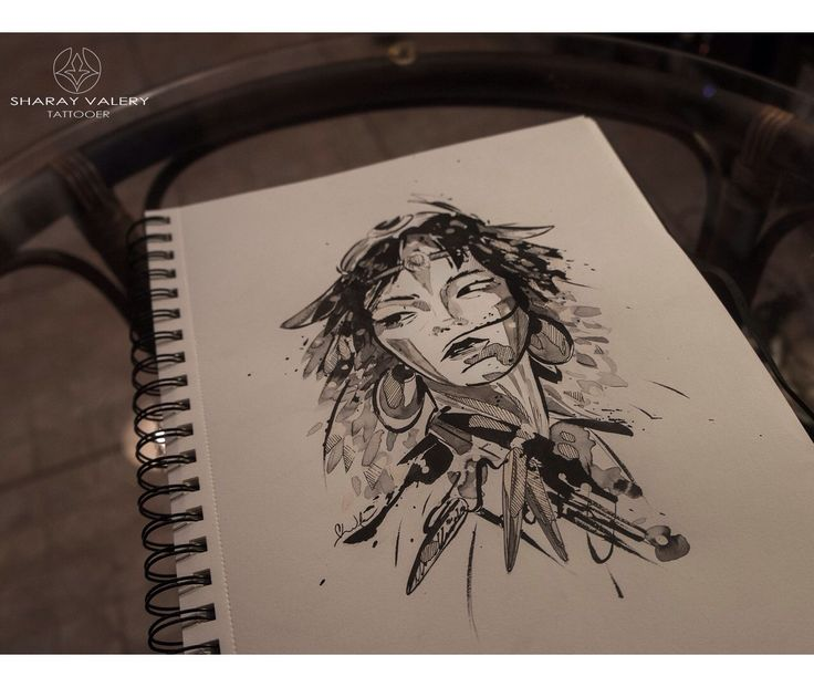 Mononoke princess tattoo design. #valerysharay #mononoke