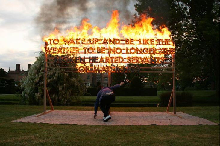 Poetic Billboards Lit Up With Neon & Fire | Robert Montgomery