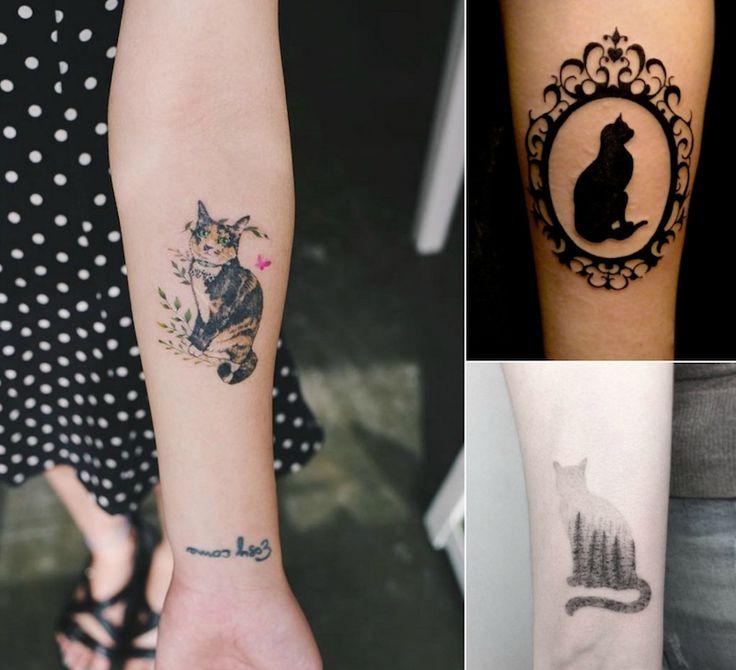 tatouage chat signification emplacement et mod les en. Black Bedroom Furniture Sets. Home Design Ideas
