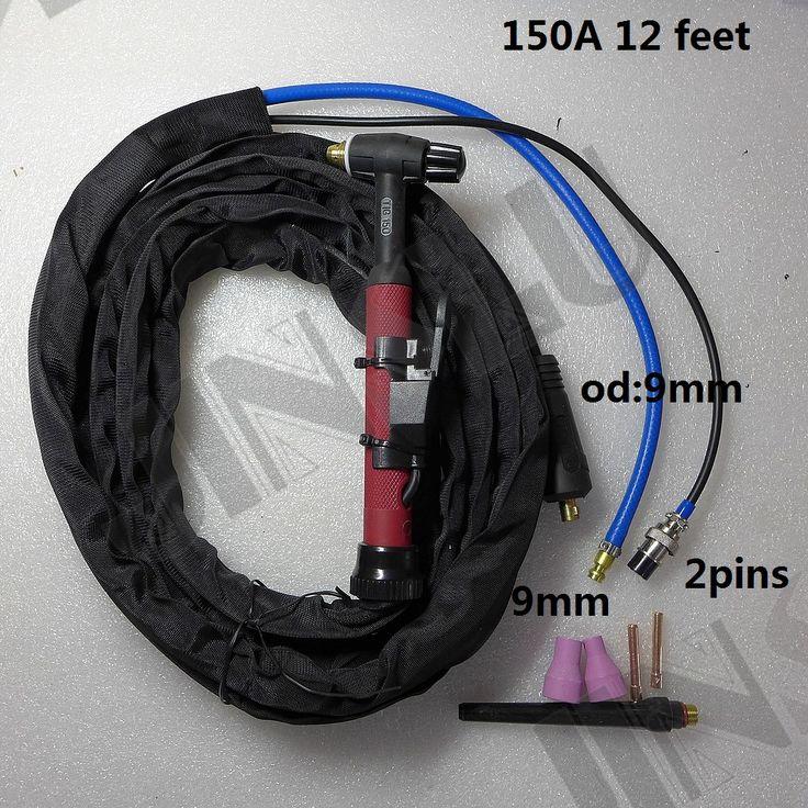 Silica gel Flexible 12 Feet Soft 150A 9mm gas DKJ10-25 TIG Torch Complete QQ150 QQ-150 QQ-150A TIG Welding Machine Welder