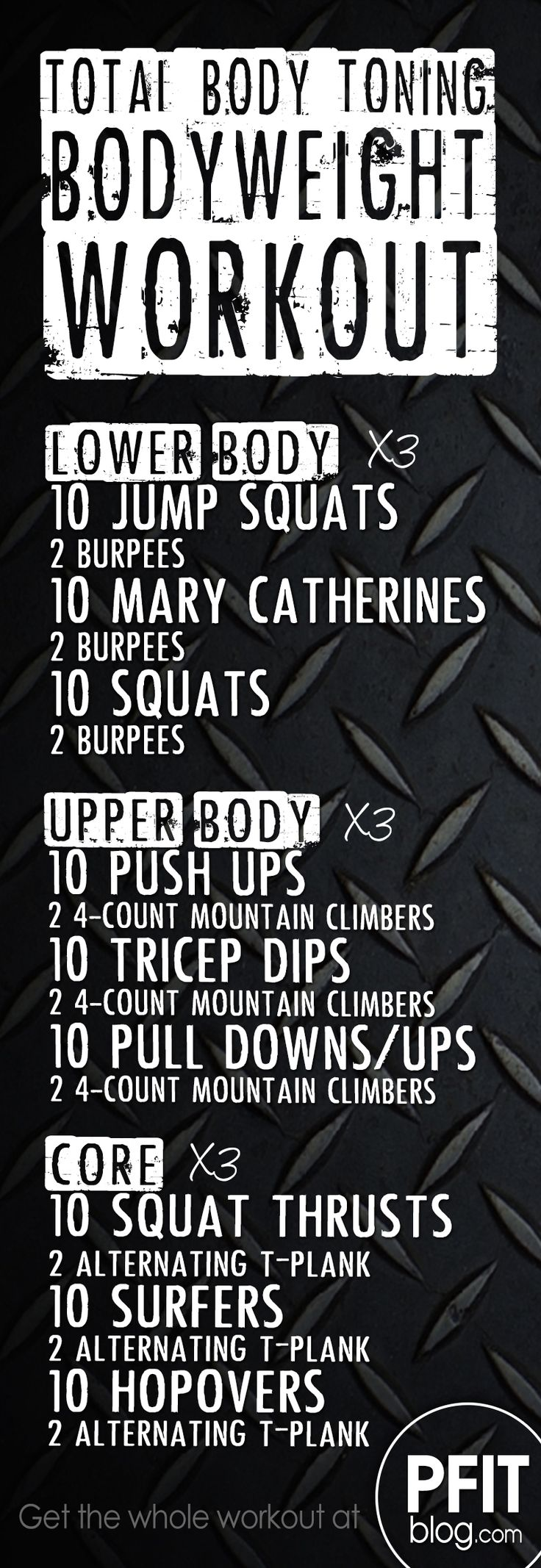 FAT-BLASTING, BODY TONING BODYWEIGHT WORKOUT - #PFITblog #Fitness #FitFluential #workout #gym