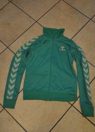 Kaufe meinen Artikel bei #Kleiderkreisel http://www.kleiderkreisel.de/damenmode/jacken/137368572-tolle-turkis-grune-trainingsjacke-von-hummel-styler-hipster-vintage