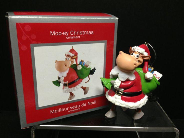 Delightful American Greeting Christmas Ornaments Part - 6: Carlton Cards/American Greetings 2013 Moo-ey Christmas Cow Santa Ornament  #CarltonCardsHeirloomAmericanGreetings #