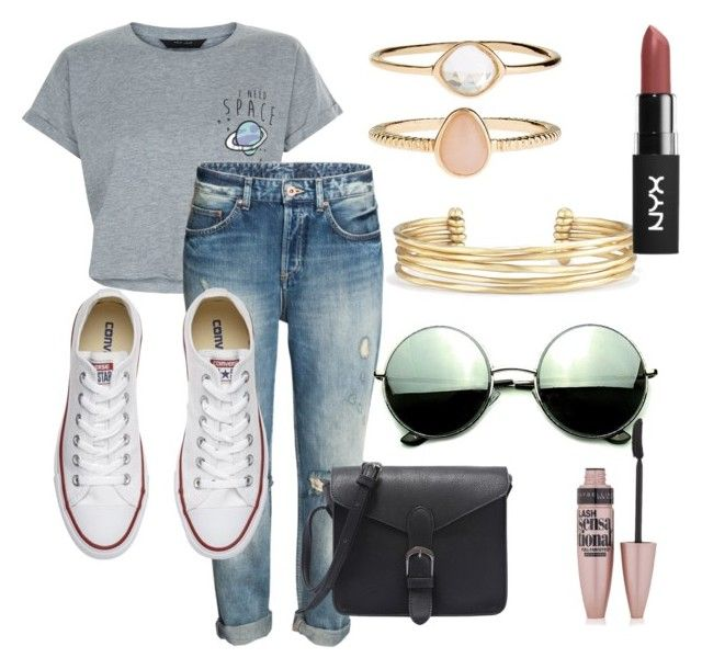 """#28"" by mercedes93 on Polyvore featuring moda, New Look, Converse, Revo, Stella & Dot, Accessorize i Maybelline"