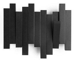 Umbra Sticks Black Czarny Wieszak Ścienny Mały - Dwa Haczyki - 318209-040