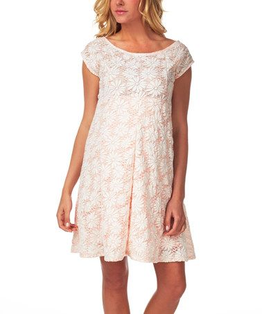 Look at this #zulilyfind! Blush Pink Floral Lace Maternity Dress by PinkBlush Maternity #zulilyfinds