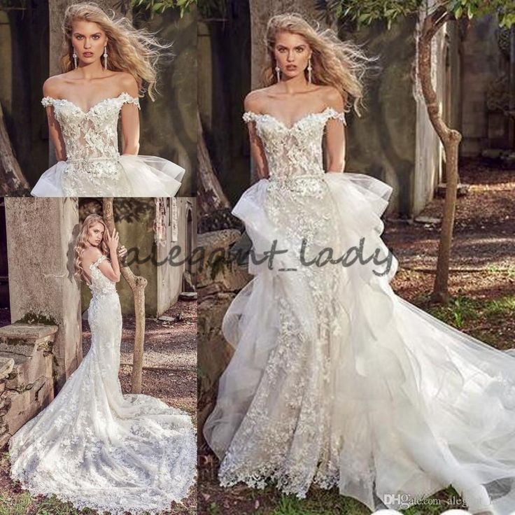 Eve Of Milady 2018 Detachable Train Mermaid Wedding