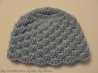 My Crochet , Mis Tejidos: Baby hat and tutorial / Gorro para bebe y tutorial