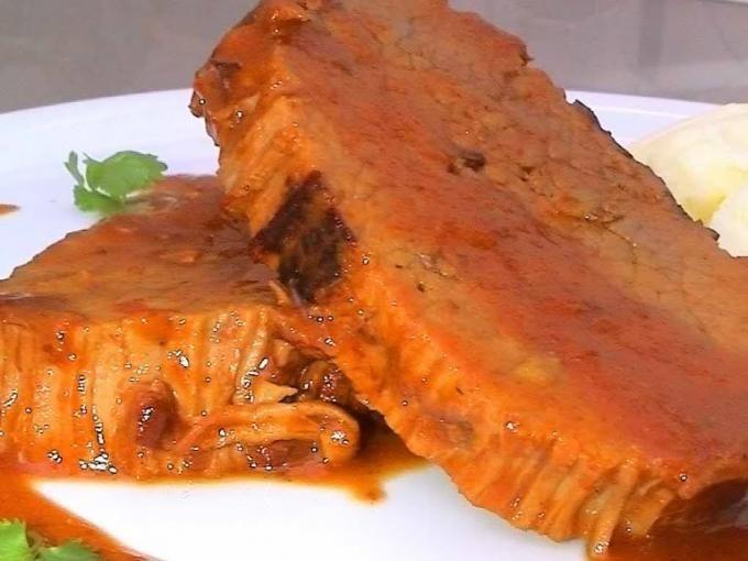 Receta Plato : Carne mechada a la chilena con puré por Milena