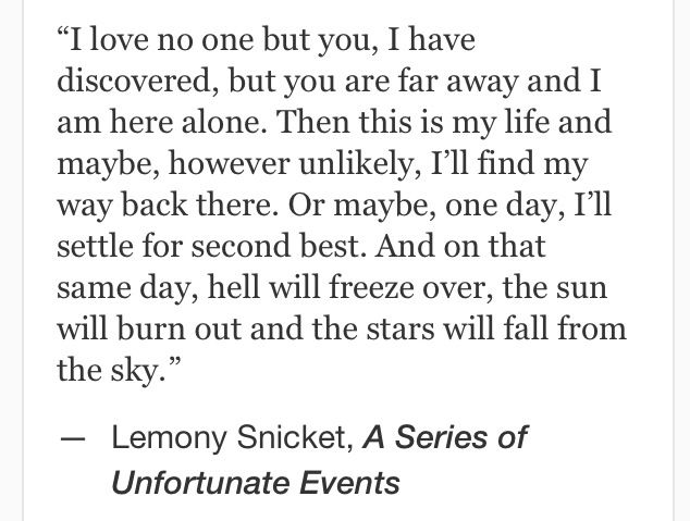 Lemony Snicket, A Series of Unfortunate Events #quotes