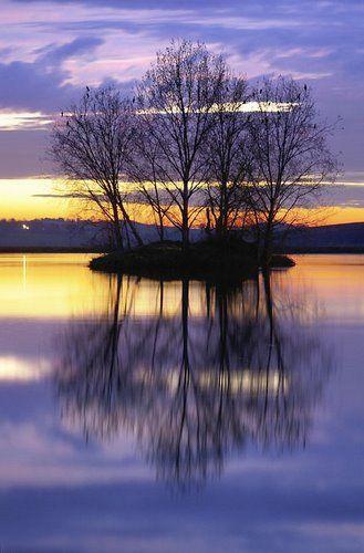 Soirée d'été au lac de Lamontjoie