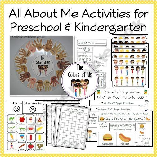 """""""All About Me"""" Printables, Activities and Ideas for Preschool and Kindergarten-TeachingtheLittlePeople Shop -  Teachers Notebook"""