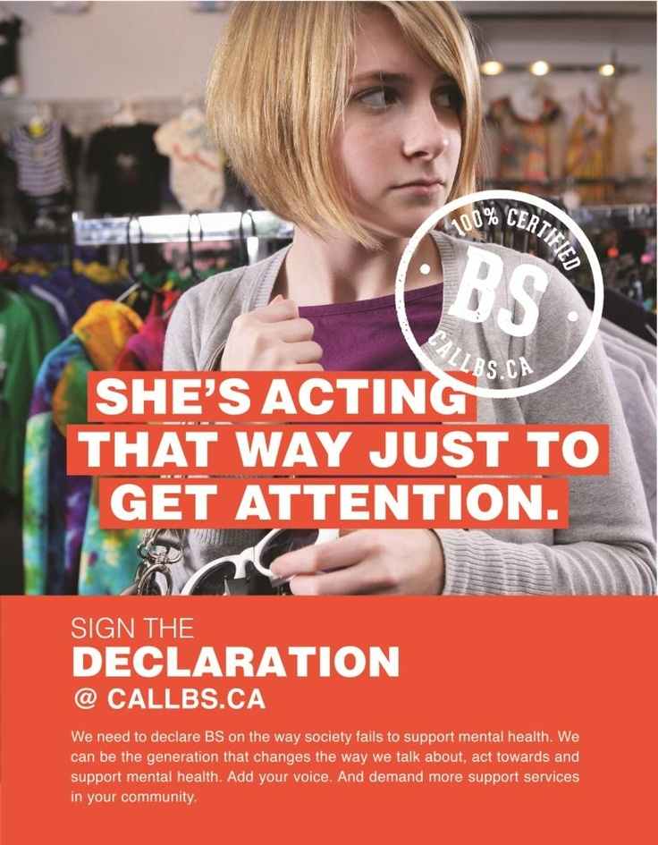 Just one example of the BS in the way society treats youth #mentalhealth. It's time to #callBS. Sign the declaration in support of youth mental health at www.callbs.ca