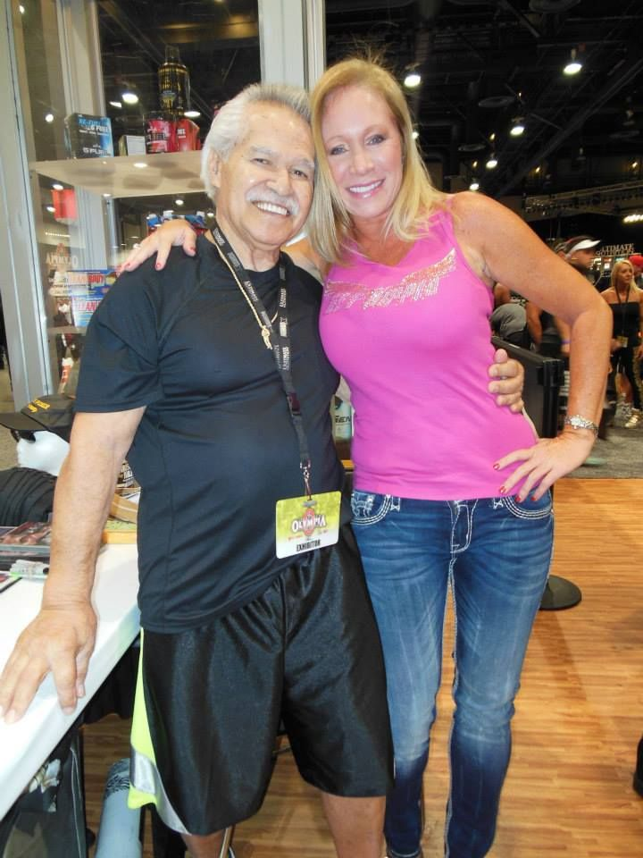 Ed Corney at the Europa Booth I was lucky enough to fly in with him!! He is a legend!