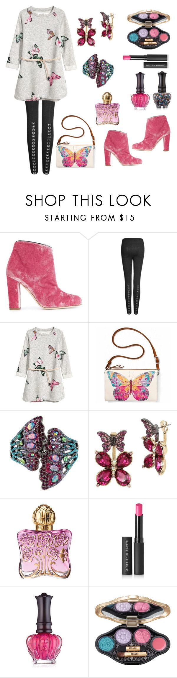 Untitled #904 by siriusfunbysheila1954 on Polyvore featuring Malone Souliers, Brighton, Betsey Johnson, Le Métier de Beauté and Anna Sui