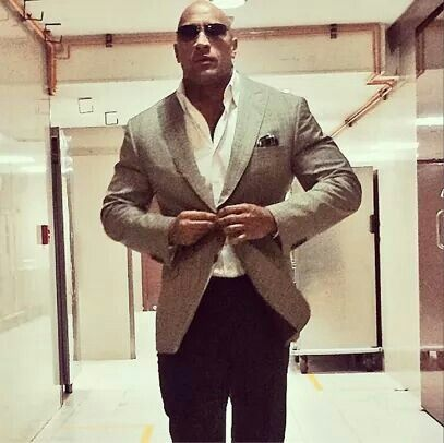 Dwayne Johnson, The Rock, looking cool as always.