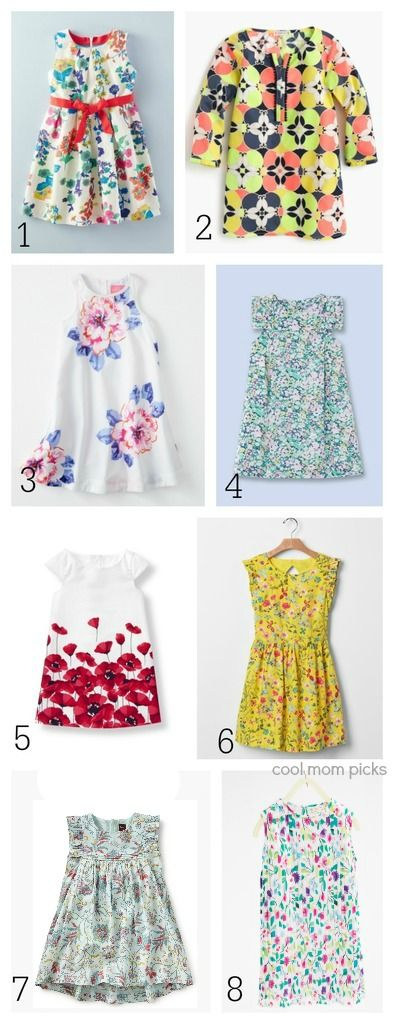 8 modern floral easter dresses for girls we love, hold the fussy crinolines.
