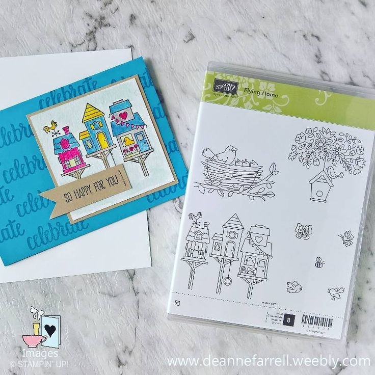 When friends move away, but you're really happy for them. Love this little birdy set. #flyinghome #sohappyforyou #handmade #stampinup #dlbcraft