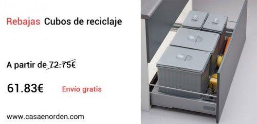 Cubos de reciclaje para cajón, www.casaenorden.com