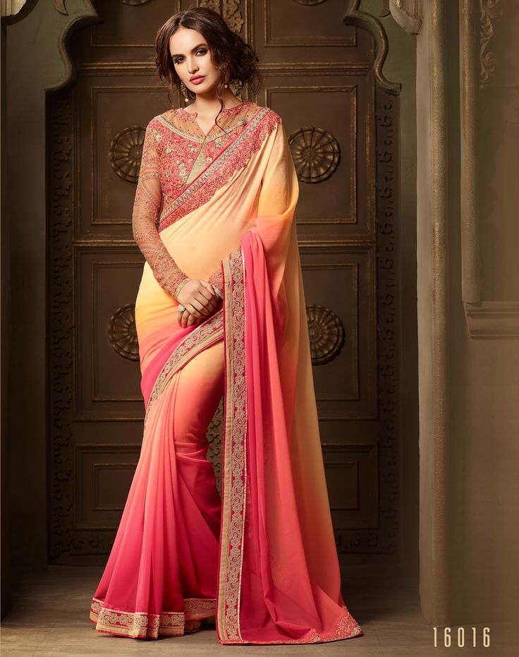 Lalgulal Light Yellow Georgette Embroidery Designer Blouse Partywear Bridemate Saree. Buy Now :- http://www.lalgulal.com/sarees/light-yellow-georgette-embroidery-designer-blouse-partywear-bridemate-saree-691 To Order Visit our Website or You can Call or Whatsapp us on +91-95121-50402.  COD & FreeShipping Available only in India.