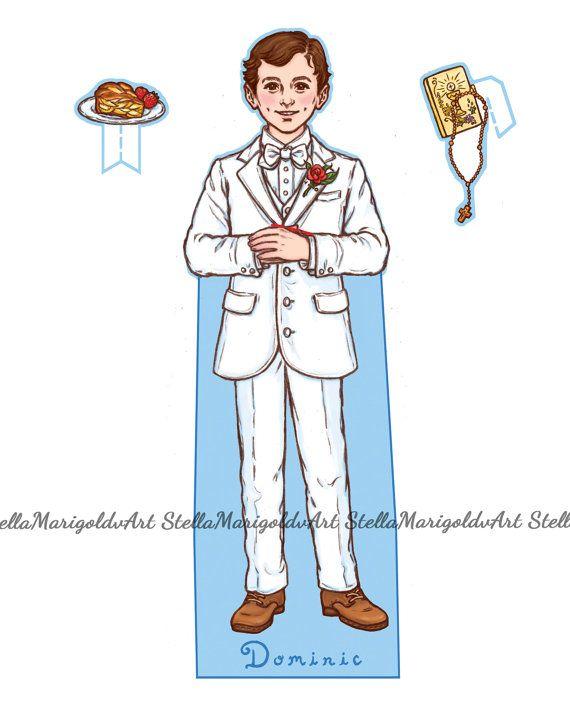Saint Dominic Savio Paper Doll Set Color