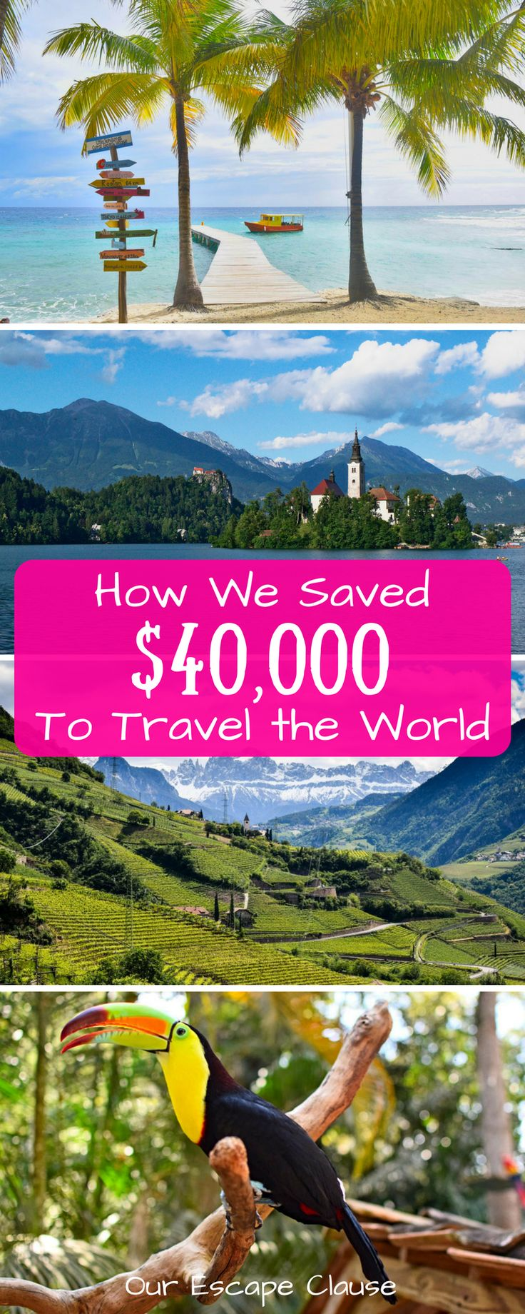35 ways we saved $40k to travel the world: from things that saved pennies to things that saved thousands! #money #moneytips #traveltips #budget #budgeting