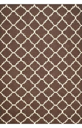 Safavieh Dhurries DHU554 WOOL Brown Rug