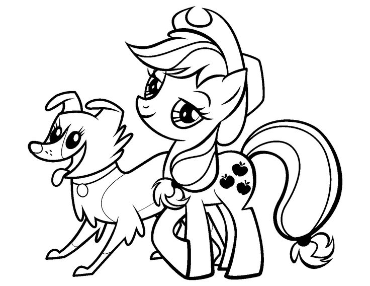 Applejack amp Winona Coloring Pages