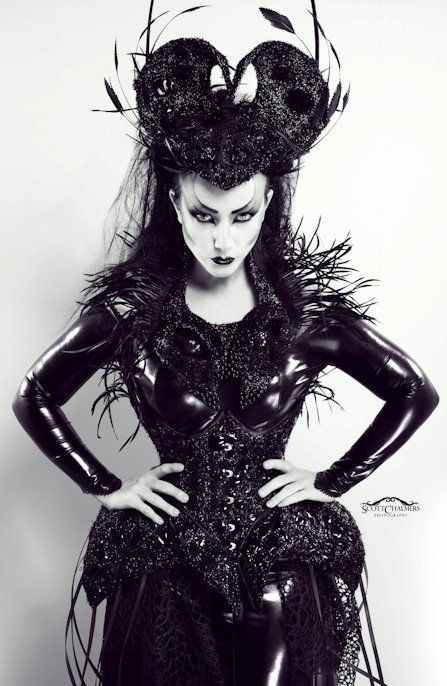 Arachnoidea Outfit by The Imaginarium Apparel. Available at http://www.theimaginariumapparel.com (Photo: Scott Chalmers, Model: Lady Amaranth)