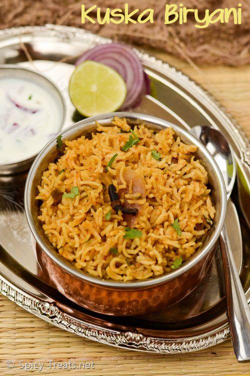 Spicy Treats: Plain Biryani Recipe   Kuska Biryani Recipe   Hotel Style Kuska Recipe