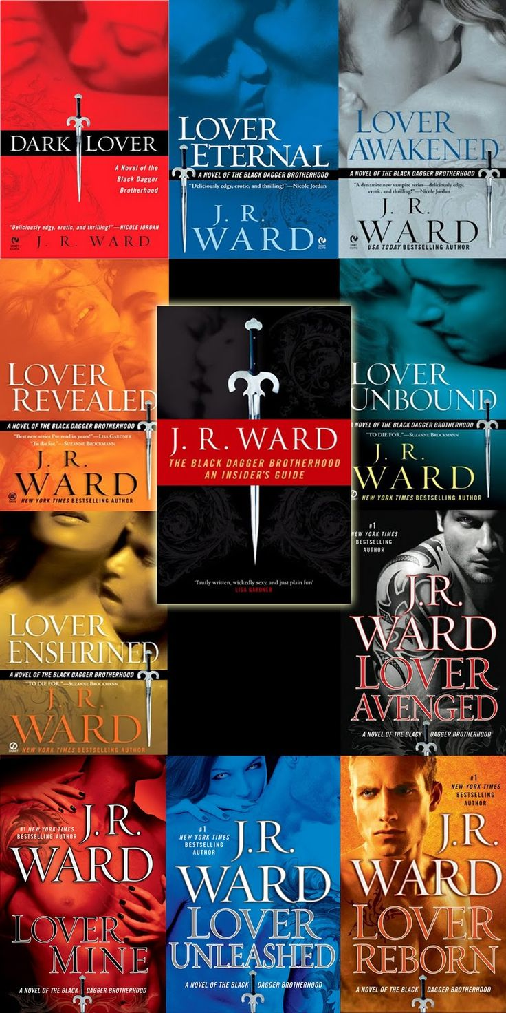 Every book from the Black Dagger Brotherhood Series. My all time favorite books!! I highly recommend them.