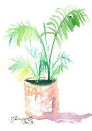 Hasil gambar untuk lukisan pohon palem