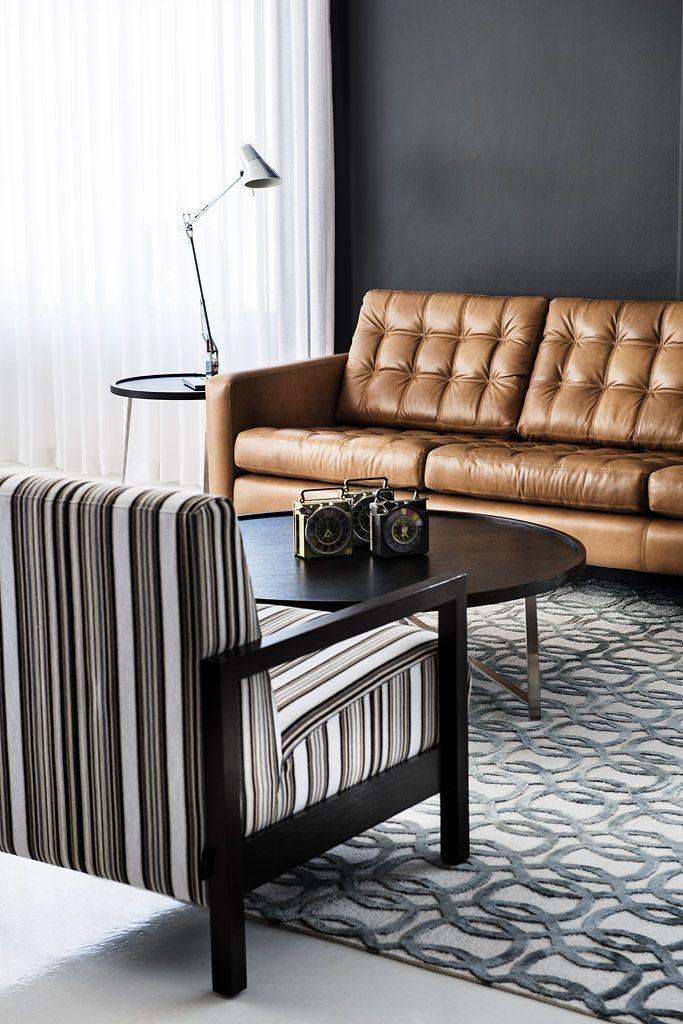 from Arthur G Richmond Showroom  this design solution for a small space  features the Arthur G Max Chair and Mink Sofa Arthur G Designer Furniture. 41 best Spaces To Love Residential images on Pinterest