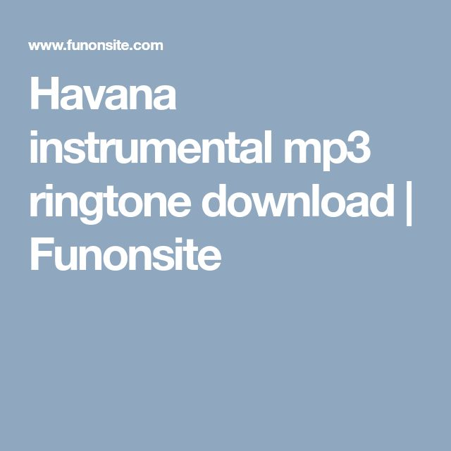 havana instrumental ringtone