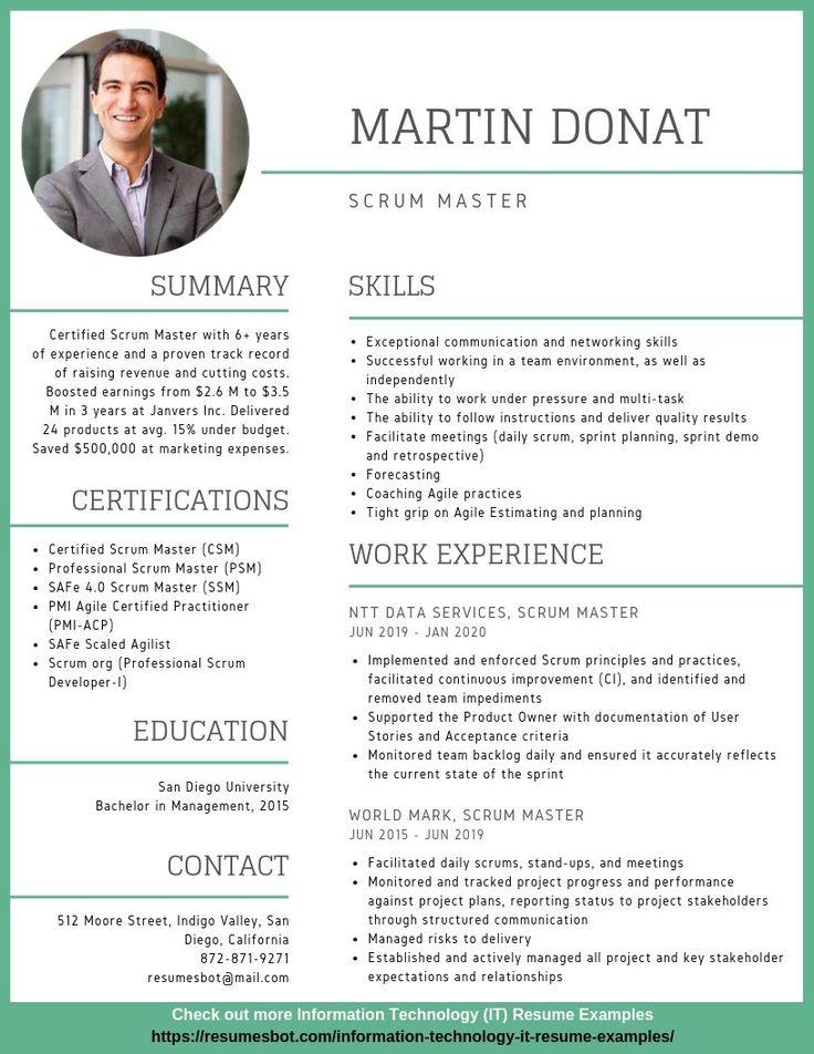 Scrum Master Resume Samples & Templates [PDF+DOC] 2019