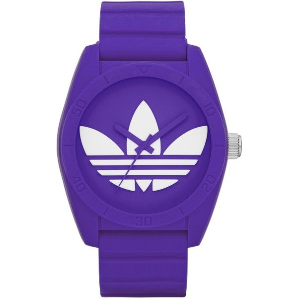 Adidas Originals Santiago (305 BRL) ❤ liked on Polyvore featuring jewelry, watches, accessories, purple, women, sports watches, adidas originals, purple watches, purple jewelry and water resistant watches