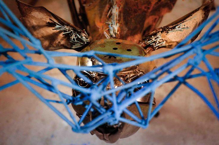 """Скульптура олененка """"Прикосновение"""" металл,сталь,структура"""