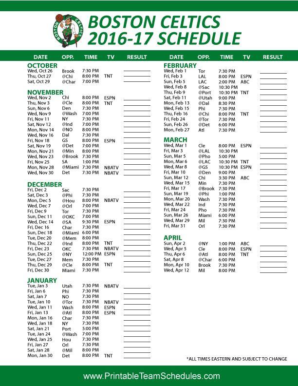 celtics schedule pdf