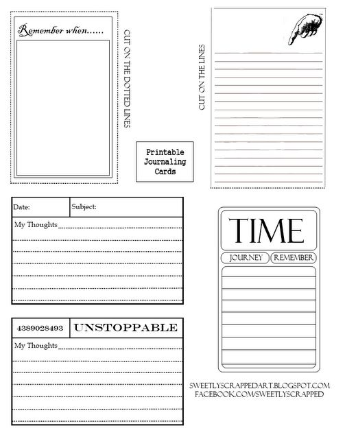 Journaling cards and much more on this site!